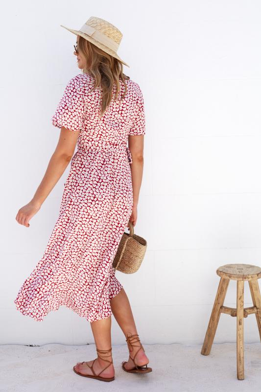 Tammi Dress - Red Print