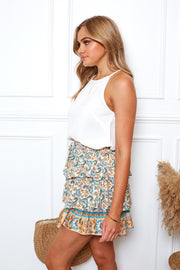 Tarna Skirt - Blue Print-Skirts-Womens Clothing-ESTHER & CO.