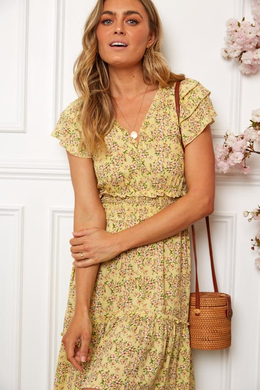 Teagan Dress - Yellow Print