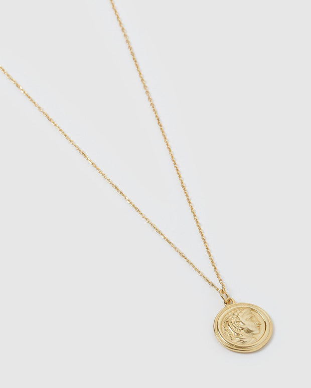 Tribute Coin Necklace - Gold-Necklaces-Womens Accessory-ESTHER & CO.