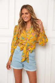 Tropicana Top - Yellow-Tops-Womens Clothing-ESTHER & CO.