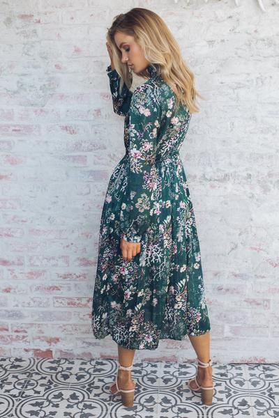 Tsumi Dress - Green-Dresses-fashion success-ESTHER & CO.