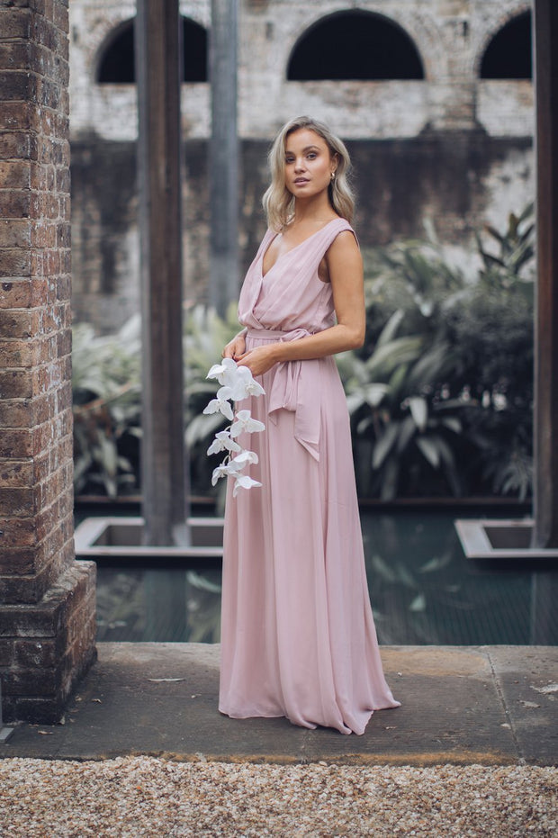 Tulip Maxi Dress - Dark Blush
