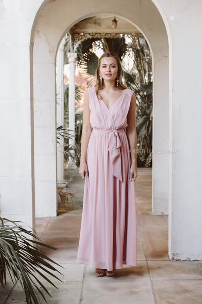 Tulip Maxi Dress - Dark Blush-Dresses-Esther Luxe-ESTHER & CO.