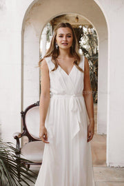 Tulip Maxi Dress - Ivory-Dresses-Esther Luxe-ESTHER & CO.