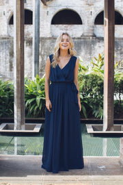 Tulip Maxi Dress - Navy
