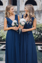 Preorder Tulip Maxi Dress - Navy-Dresses-Esther Luxe-ESTHER & CO.