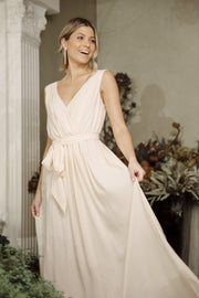Tulip Maxi Dress - Soft Peach