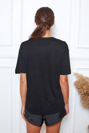 Uniform Tee 2.0 - Black Bamboo-Tops-Womens Clothing-ESTHER & CO.