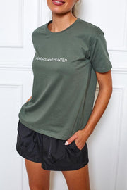 Uniform Tee 2.0 - Khaki-Tops-Womens Clothing-ESTHER & CO.