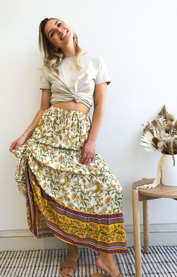 Domo Skirt - Yellow Print