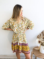 Domo Dress - Yellow Print