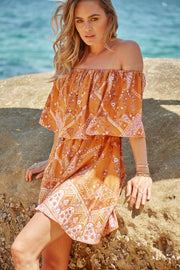 Wild Fire Dress - Orange Print