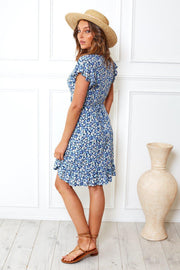 Wither Dress - Blue Print-Dresses-Womens Clothing-ESTHER & CO.