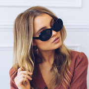 Lake Como | Black-Sunglasses-Womens Accessory-ESTHER & CO.
