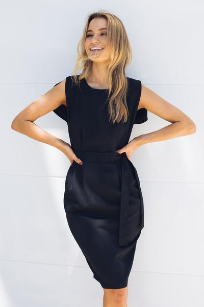 Yanie Dress - Black-Dresses-maxim maxim-ESTHER & CO.