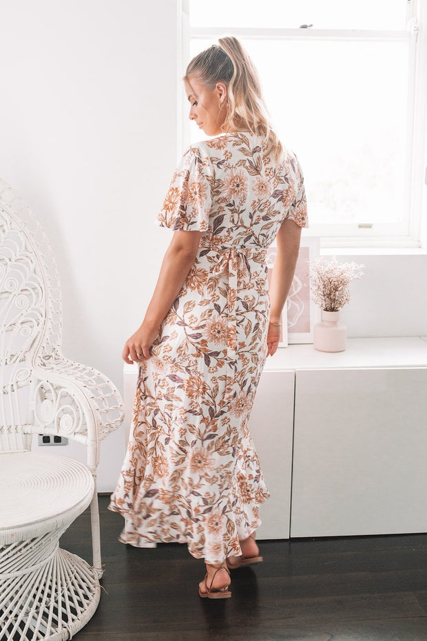 Zimma Dress - White Floral-Dresses-Womens Clothing-ESTHER & CO.