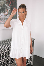 Zooey Dress - White-Dresses-Womens Clothing-ESTHER & CO.