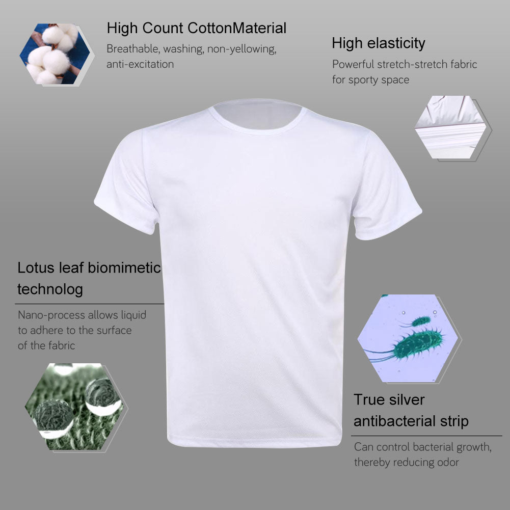 Breathable Anti-Dirty Men T-shirt Creative Hydrophobic Waterproof Anti-pollution Quick Dry T-Shirts Top Short-sleeved T-shirts8