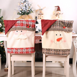 Christmas Santa Hat Chair Covers  Decor