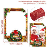 Christmas Photo Booth Prop Frame - Xmas/Winter/Holiday Party Supplies Decorations