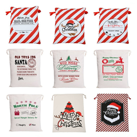 2020 DELIGHTFUL SANTA SACKS FOR GIFTS FROM THE NORTH POLE