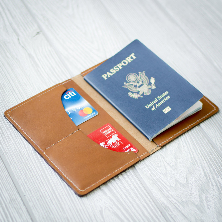 Personalized Leather Passport Wallet - Passport Holder