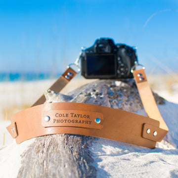 Personalized 'Deluxe' Leather Camera Strap