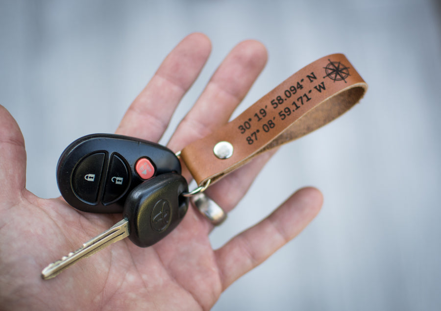 Personalized Leather Keychain