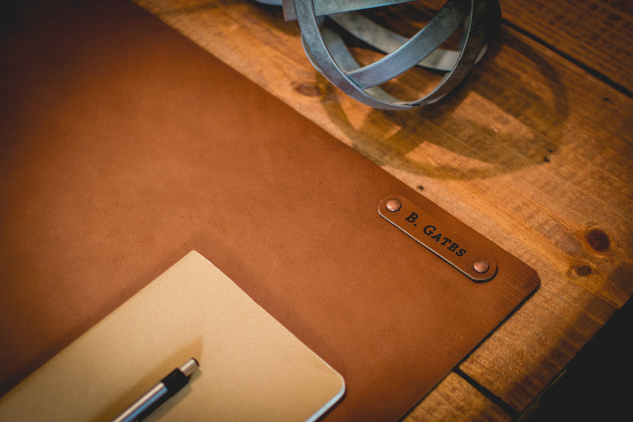 Personalized Leather Desk Mat