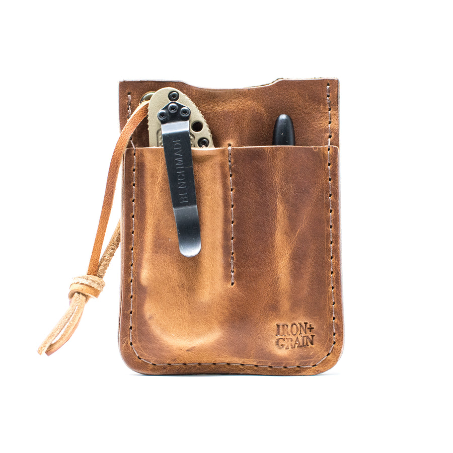 English Tan Dublin EDC leather wallet