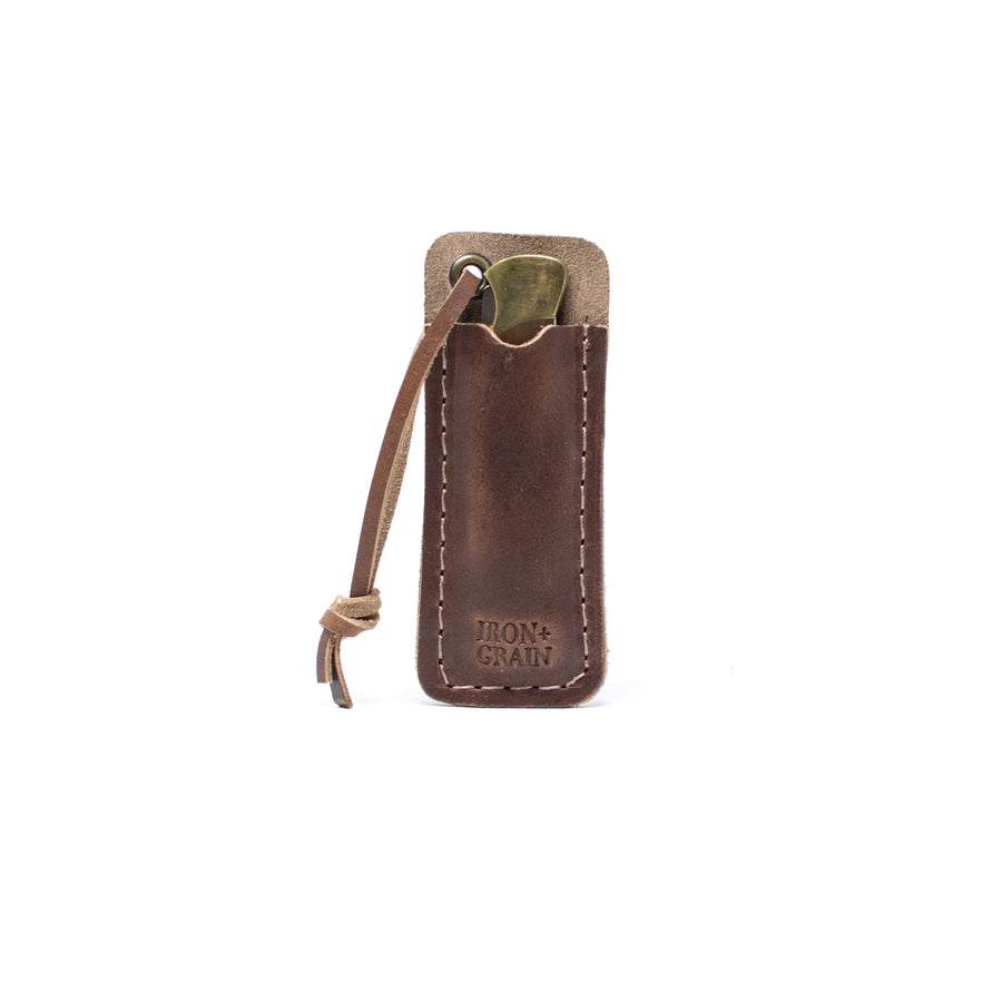 Brown Nut Dublin small pocket knife sheath pocket slip for buck knife, case knife