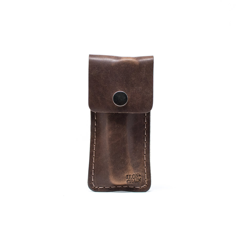 Brown Nut Mens Leather Knife sheath
