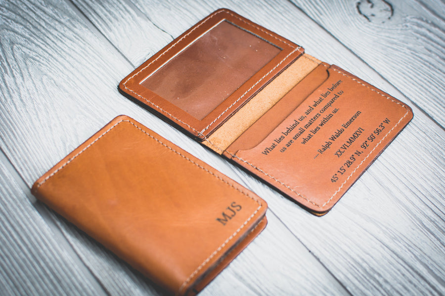 Personalized Mens Leather Wallet