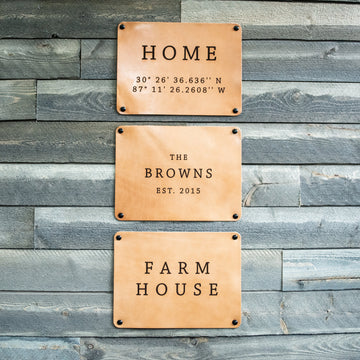 Custom Leather Wall Decor Sign