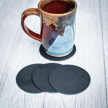 Black Leather Coasters