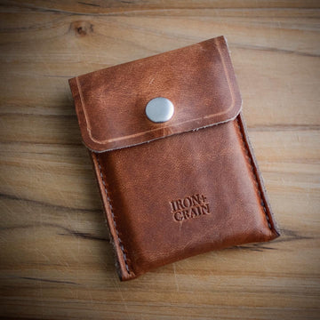 'The Washington' Leather Snap Wallet  - Natural Dublin