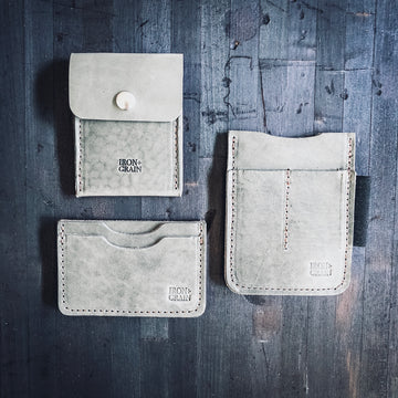 Special Edition - Grey Leather Wallet Set