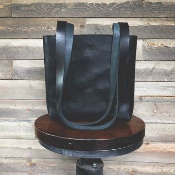 Black Women's Leather Tote / Shoulder Bag
