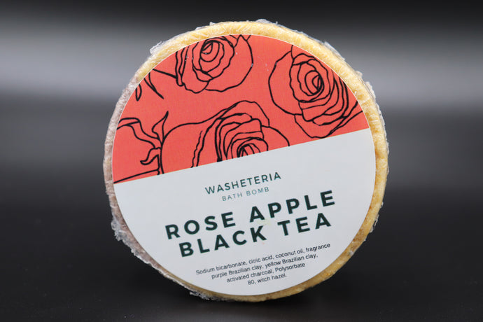 Rose Apple Black Tea Bath Bomb - Detroit Kindred
