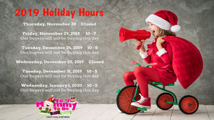 2019 Las Vegas Store Holiday Hours