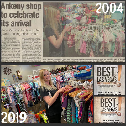 Me 'n Mommy To Be Kids and Maternity Consignment Stores celebrates their 15th anniversary