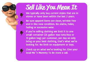 Tips on selling gently used baby goods and maternity wear