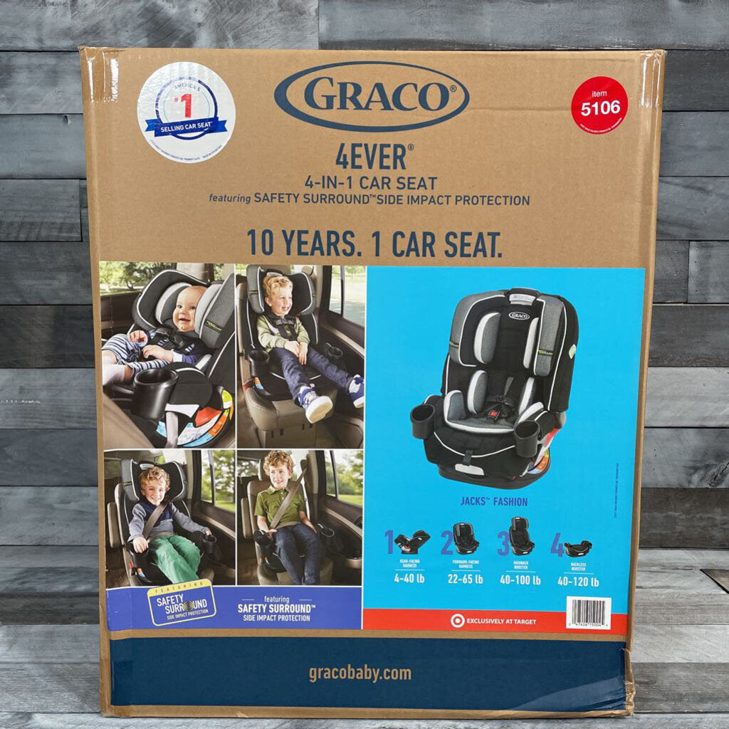NEW Graco 4Ever 4-in-1 Convertible Car Seat in Jacks