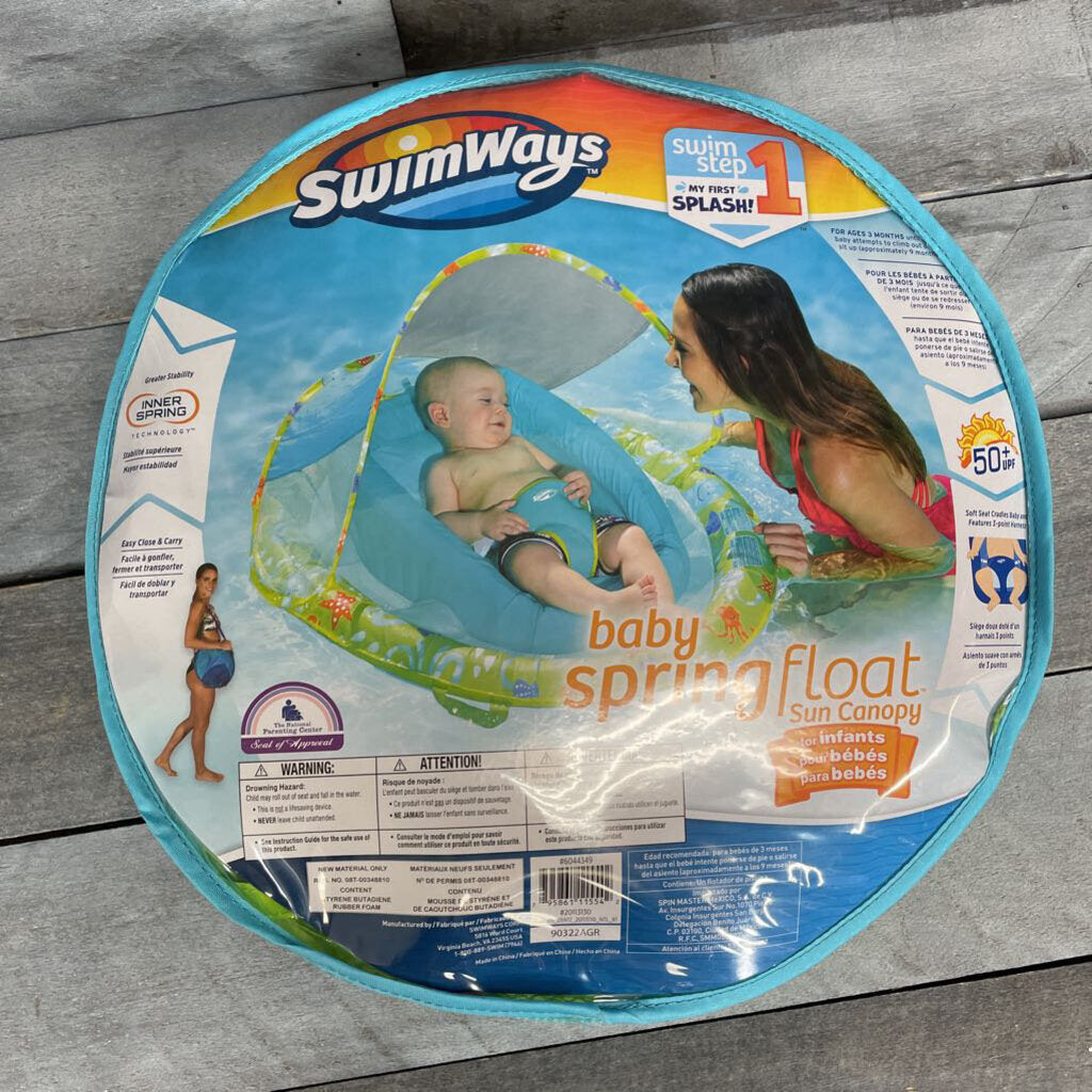 NEW SwimWays Baby Spring Float with Sun Canopy
