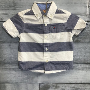 TOMMY HILFIGER Striped Button Up Shirt sz 3-6m