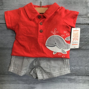 Cat & Jack NEW 2pc Outfit Whale sz NB