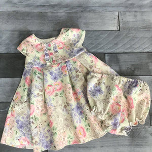 Pippa & Julie 2Pc Quilted Floral Dress sz 24M