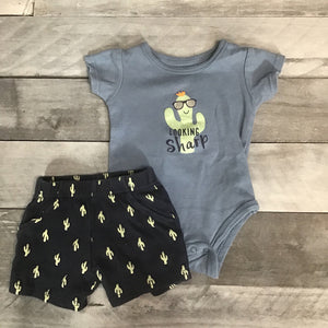2Pc Outfit Looking Sharp sz 3-6M