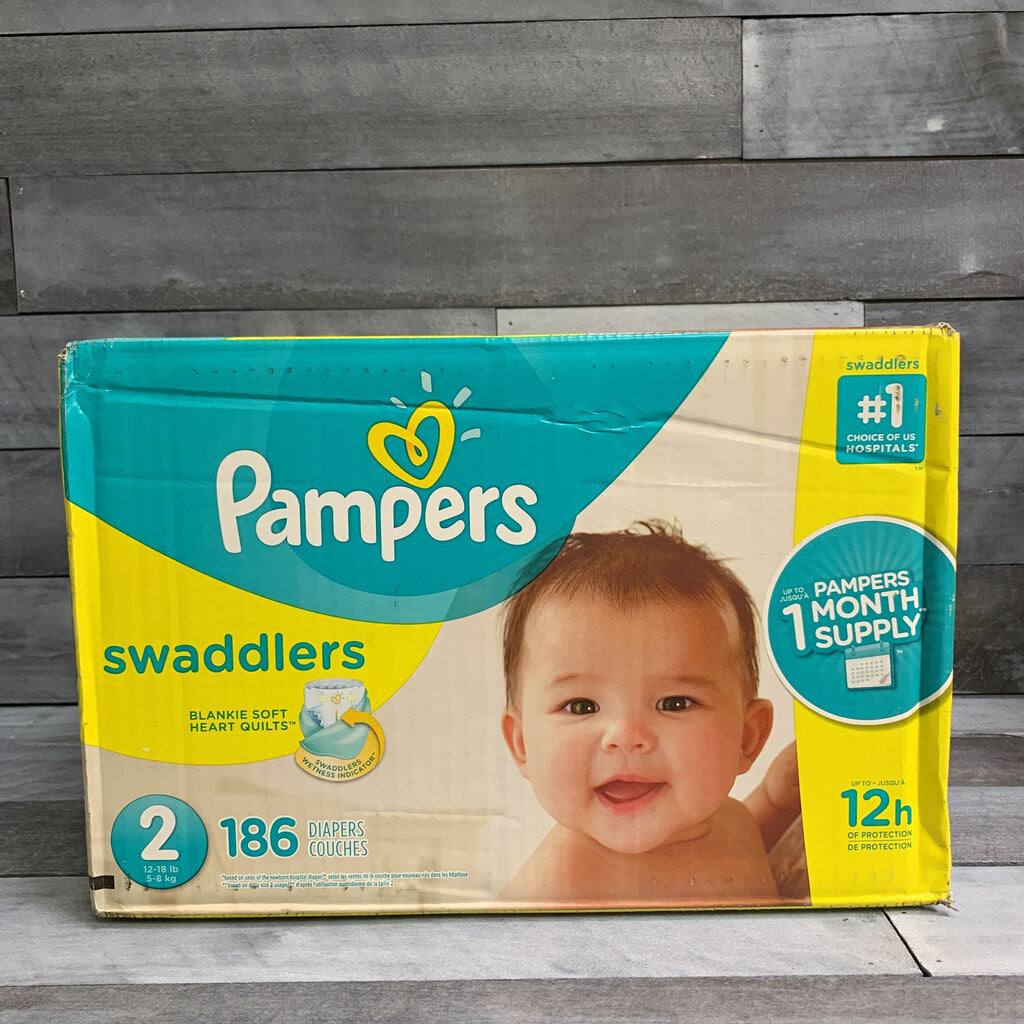Pampers Swaddlers Size 2 Diapers 186ct